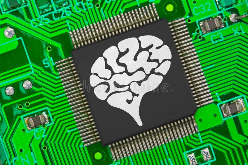 AI - artificiell intelligens arkivbild