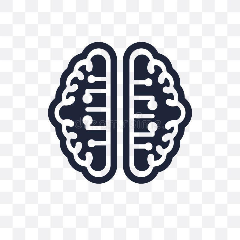 ai Brain transparent icon. ai Brain symbol design from Artificial Intellegence collection. Simple element vector illustration. Ca stock illustration