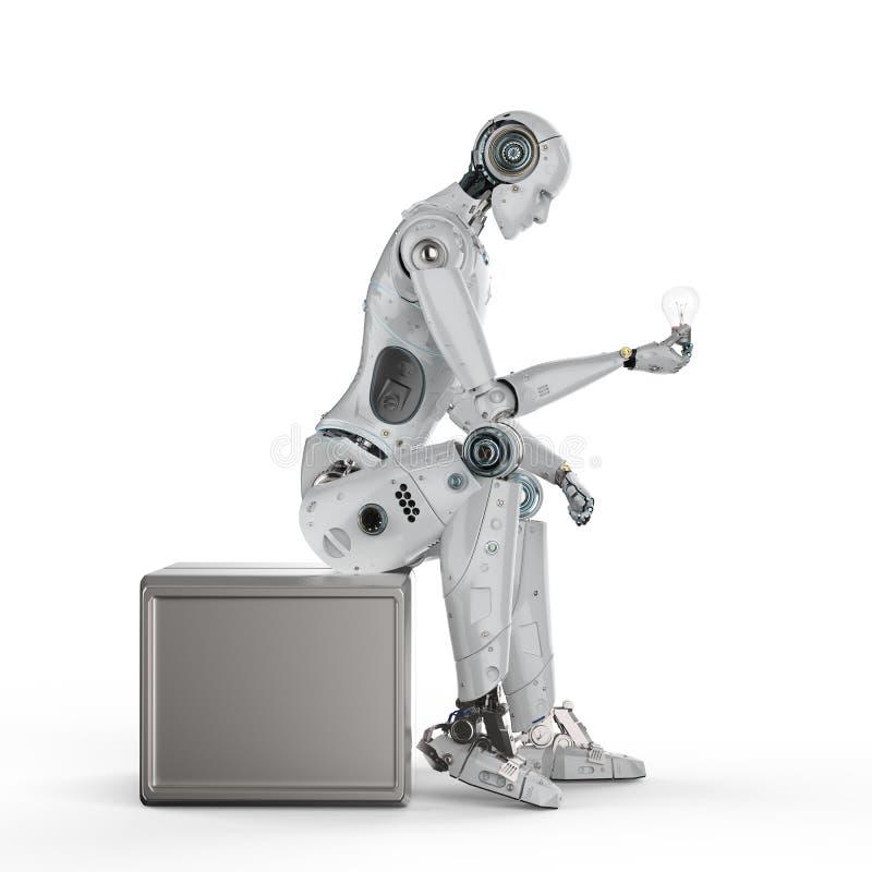 AI creativiteitconcept royalty-vrije illustratie