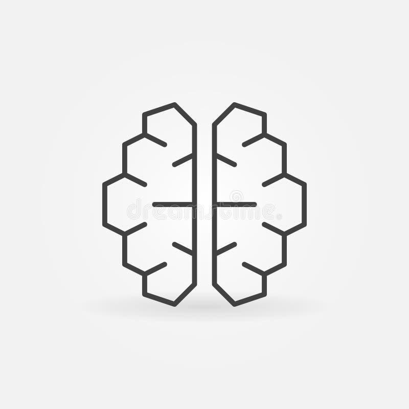 AI cyberbrain ikona - wektorowy sztucznej inteligenci mózg symbol ilustracji