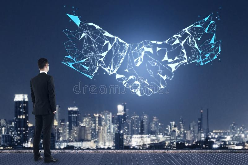 AI and deal concept stock image