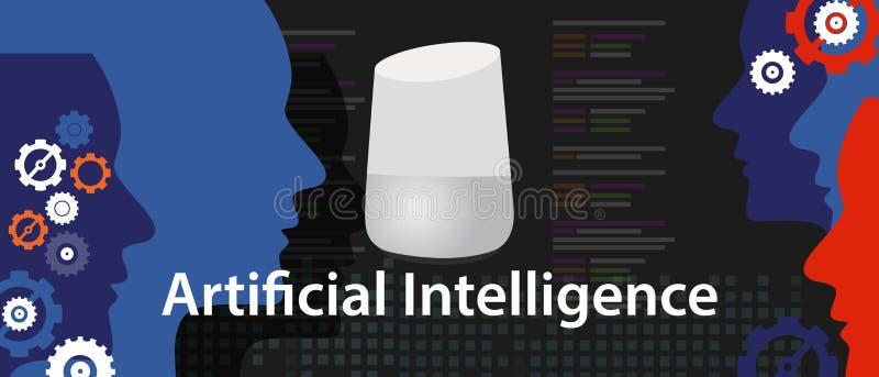 AI digitaal kunstmatige intelligentie slim huis stock illustratie