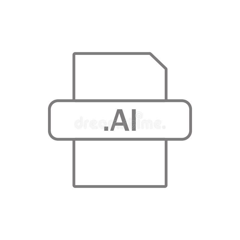 ai dossierpictogram Element van cyberveiligheid voor mobiel concept en webtoepassingenpictogram Dun lijnpictogram voor websiteont vector illustratie