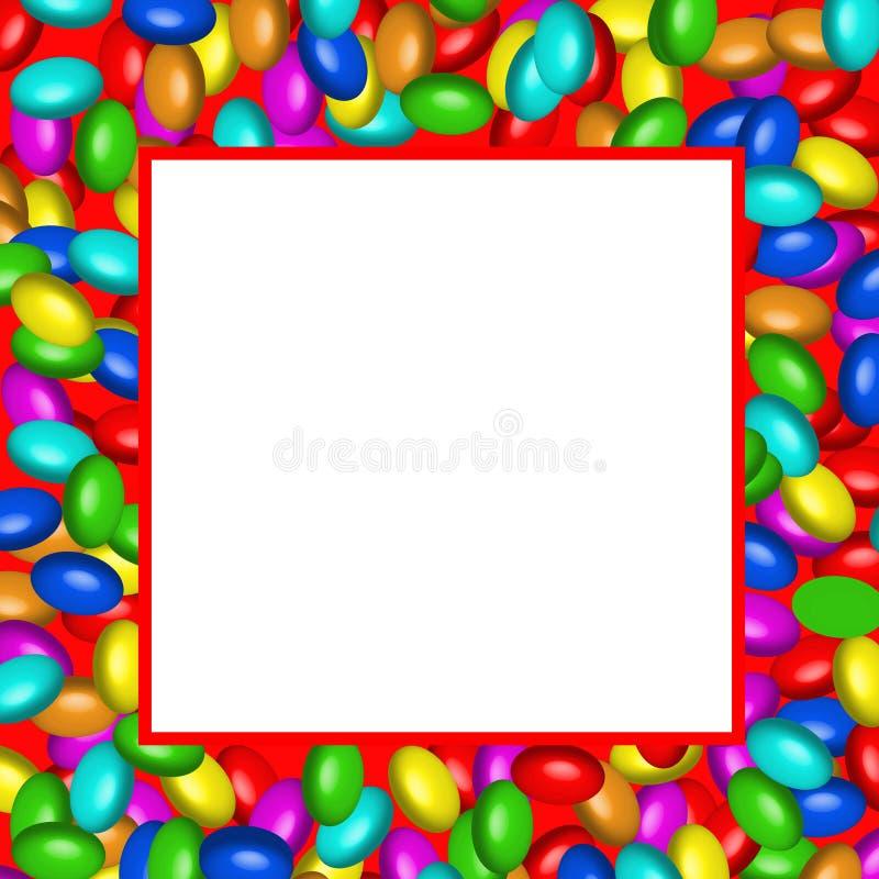 ai dostępnych czekoladowa słodyczy wzoru rama ilustracja wektor