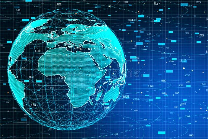 AI e conceito de comércio ilustração do vetor