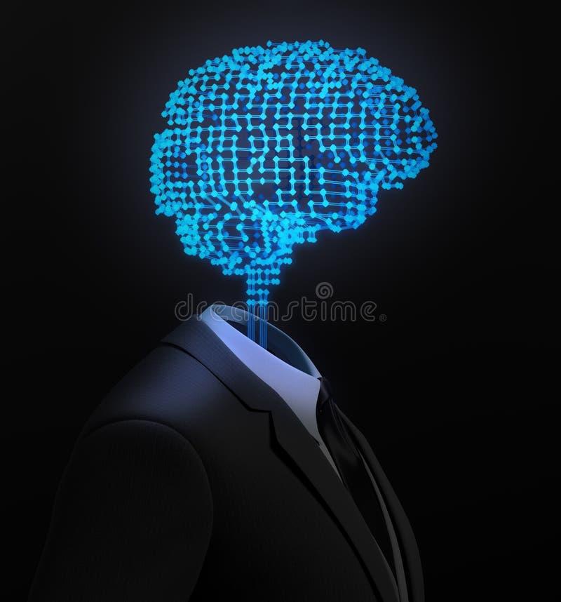 AI e industria del aprendizaje de máquina - ejemplo del concepto 3D stock de ilustración