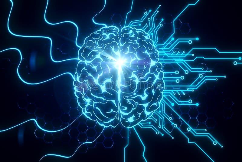 AI et innover concept illustration de vecteur