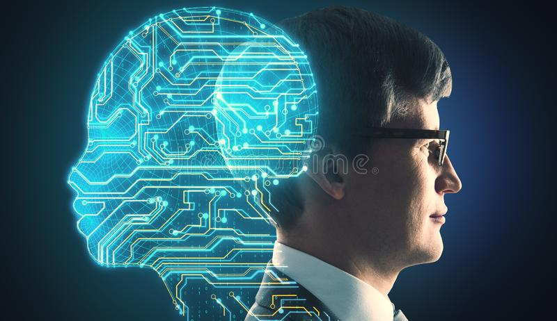 AI and future concept royalty free stock image