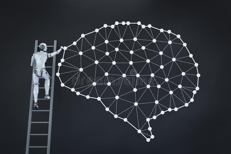 Ai-hjärnteknologi vektor illustrationer
