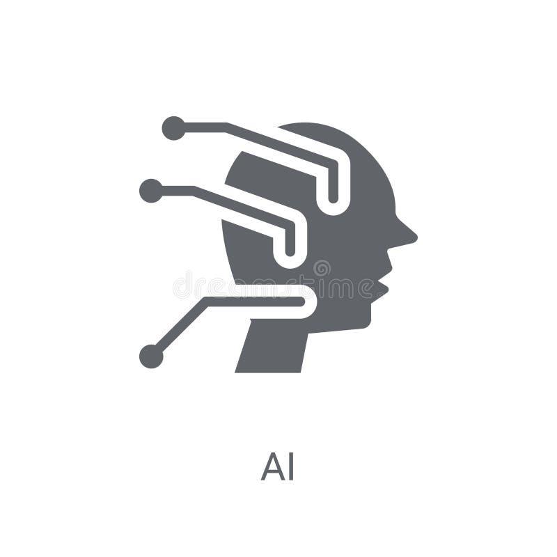 AI ikona  ilustracji