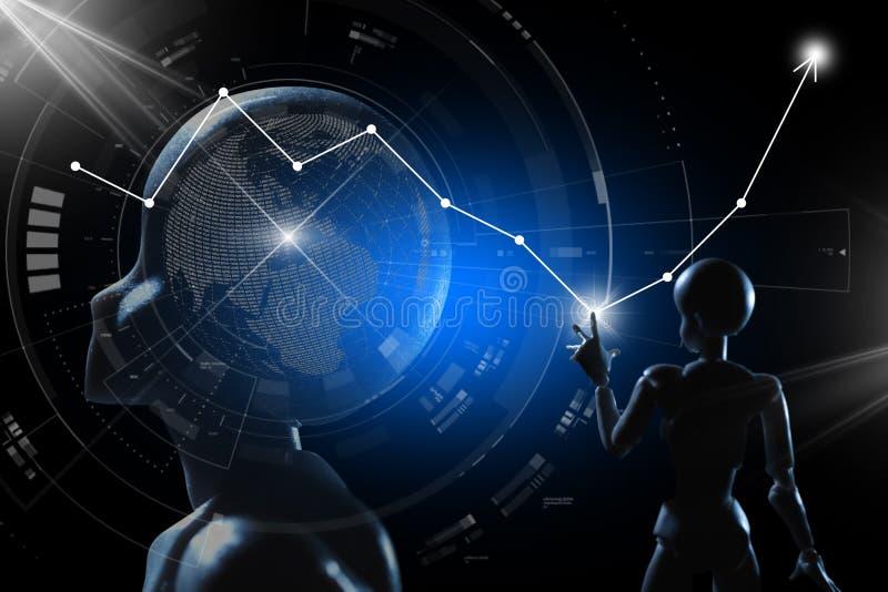AI, inteligencia artificial conceptual de techno de la siguiente generaci?n imagen de archivo libre de regalías