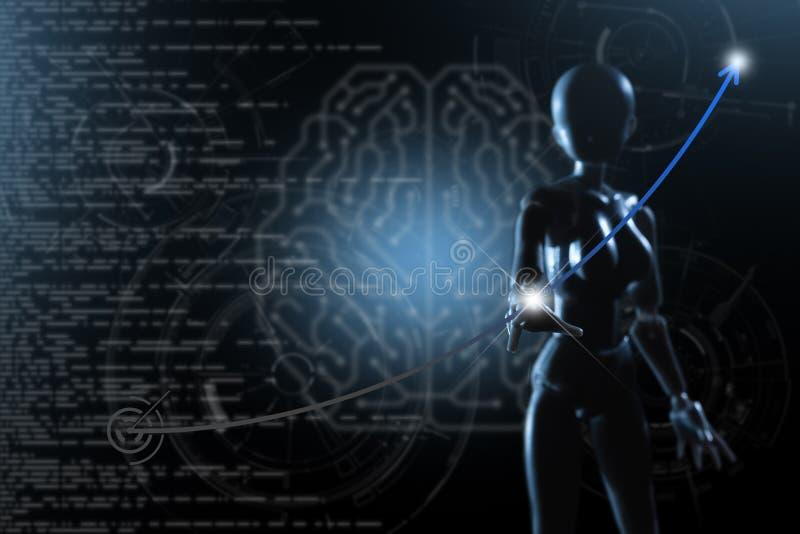 AI, inteligencia artificial conceptual de techno de la siguiente generaci?n fotos de archivo