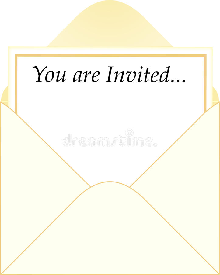 ai koperty zaproszenie royalty ilustracja