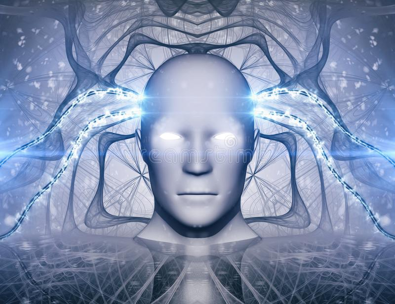 AI Kunstmatige intelligentie Abstract Concept stock illustratie