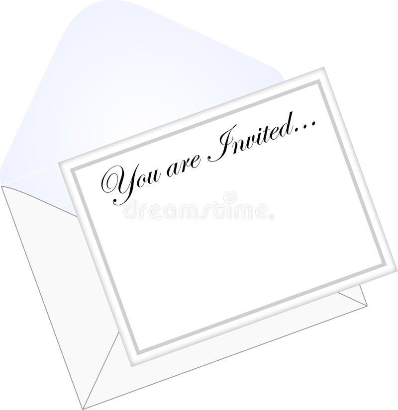 ai-kuvertinbjudan royaltyfri illustrationer