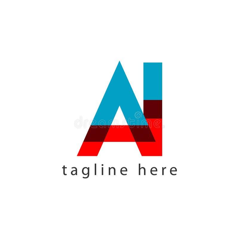 AI Logo Letter Vector Template Design Illustratie stock illustratie