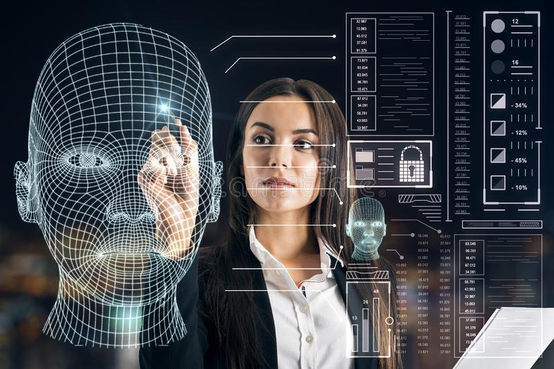 AI and machine learning concept stock image