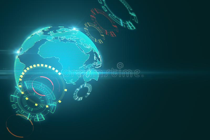 AI and media concept vector illustration