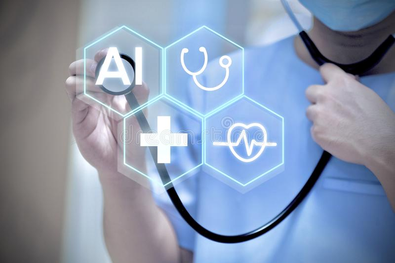 AI medical background concept royalty free stock image