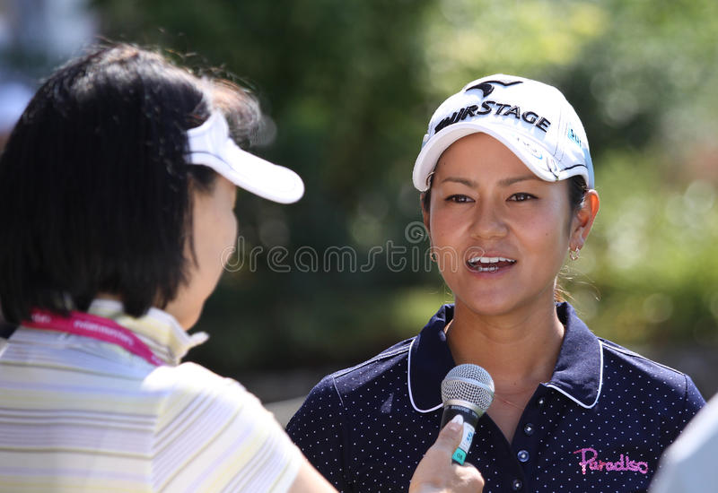 Ai Miyazato am Golf Evian erarbeitet 2012 stockbilder