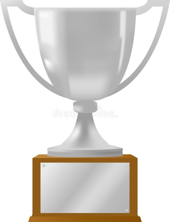 ai nagrody srebra trofeum ilustracja wektor