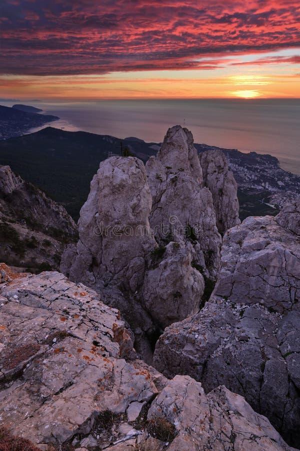 Ai-Petri. The magnificent view from Ai-Petri mountain, Crimea royalty free stock image