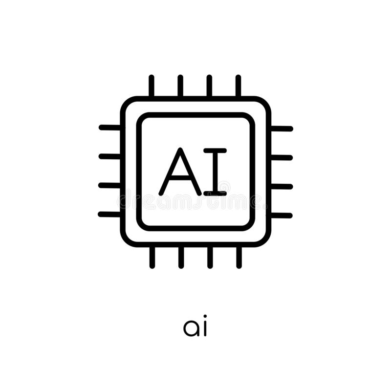 AI pictogram  royalty-vrije illustratie