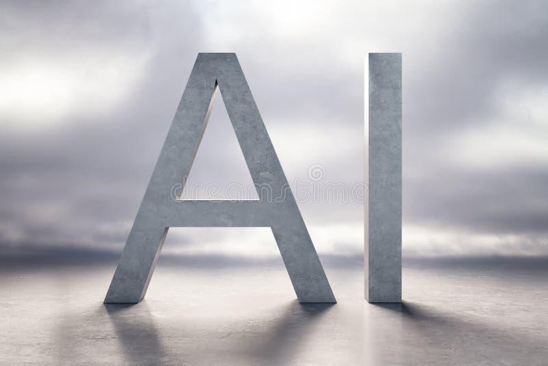 AI pictogramachtergrond royalty-vrije illustratie