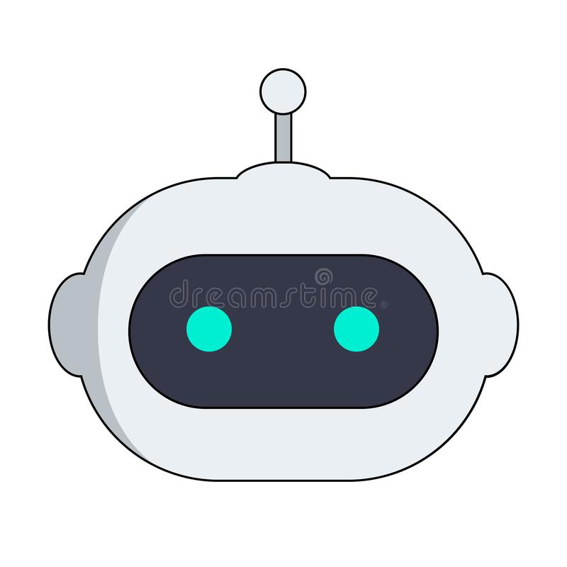 Free AI Robot Head. Chat Bot Icon Royalty Free Stock Photography - 109860127