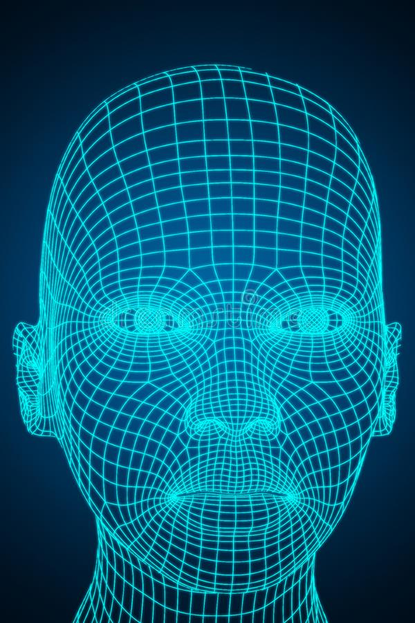 AI and robotics concept stock illustration