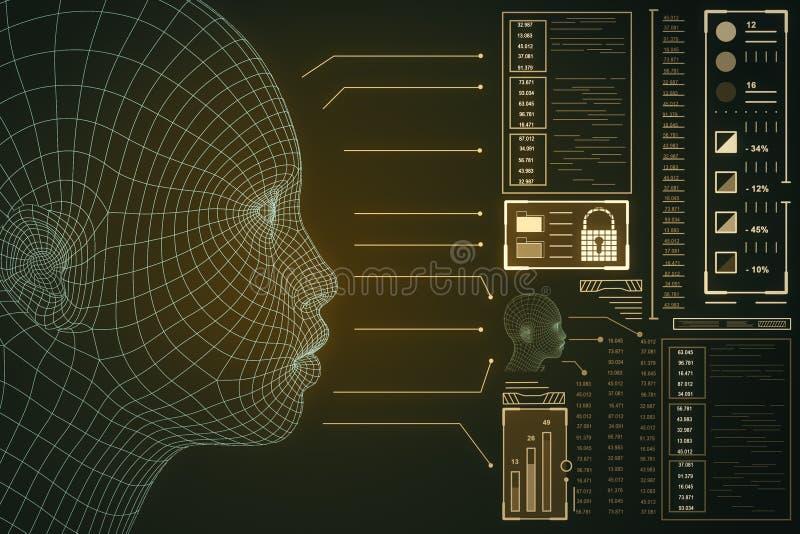 AI and robotics concept vector illustration
