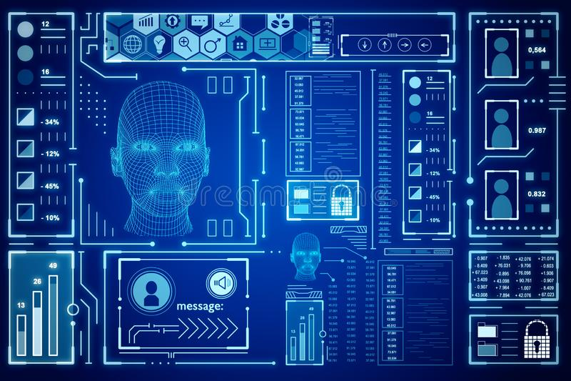AI and robotics concept royalty free illustration