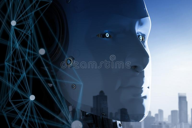 Ai robotverbinding stock illustratie