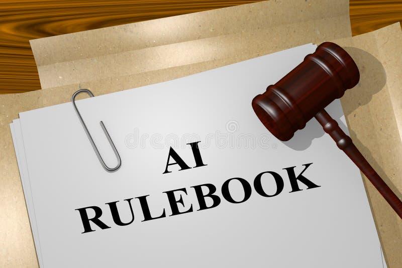 AI RULEBOOK concept vector illustratie