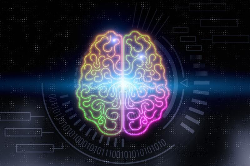 AI and science concept stock photo