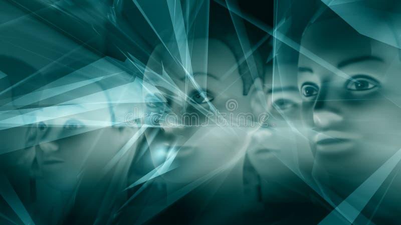 Ai technologie, cyber hersenen vector illustratie