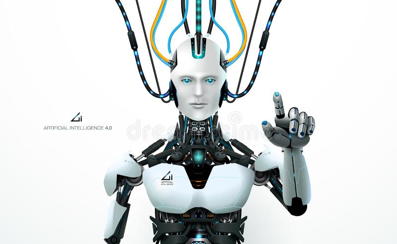 Ai technologii robota zasoby royalty ilustracja