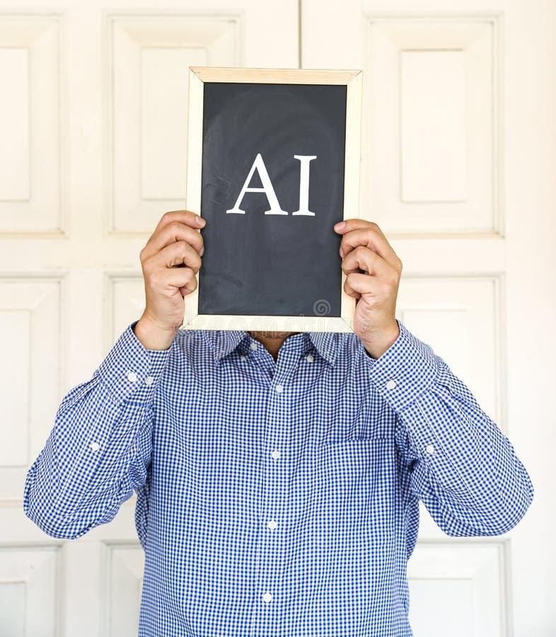 AI Technology, thinking concept stock image