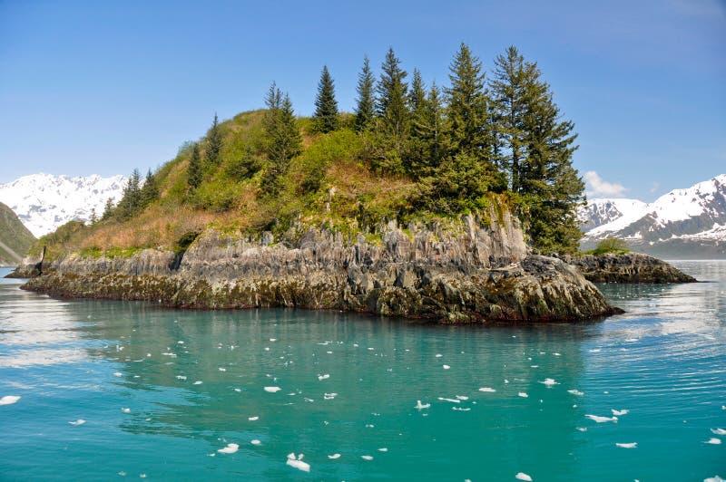 aialik alask zatoki fjords wyspy kenai np krytykuje zdjęcia royalty free