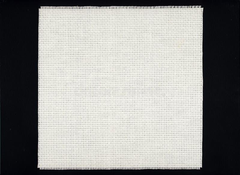 aida画布布料白色 免版税库存照片