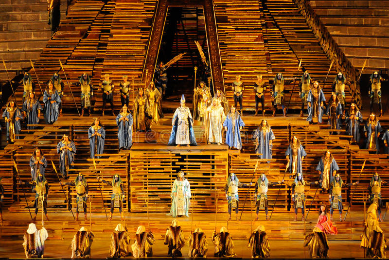 Aida à l'arène de Vérone photo stock