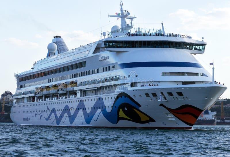 Aida Aura-cruiseschip stock afbeeldingen