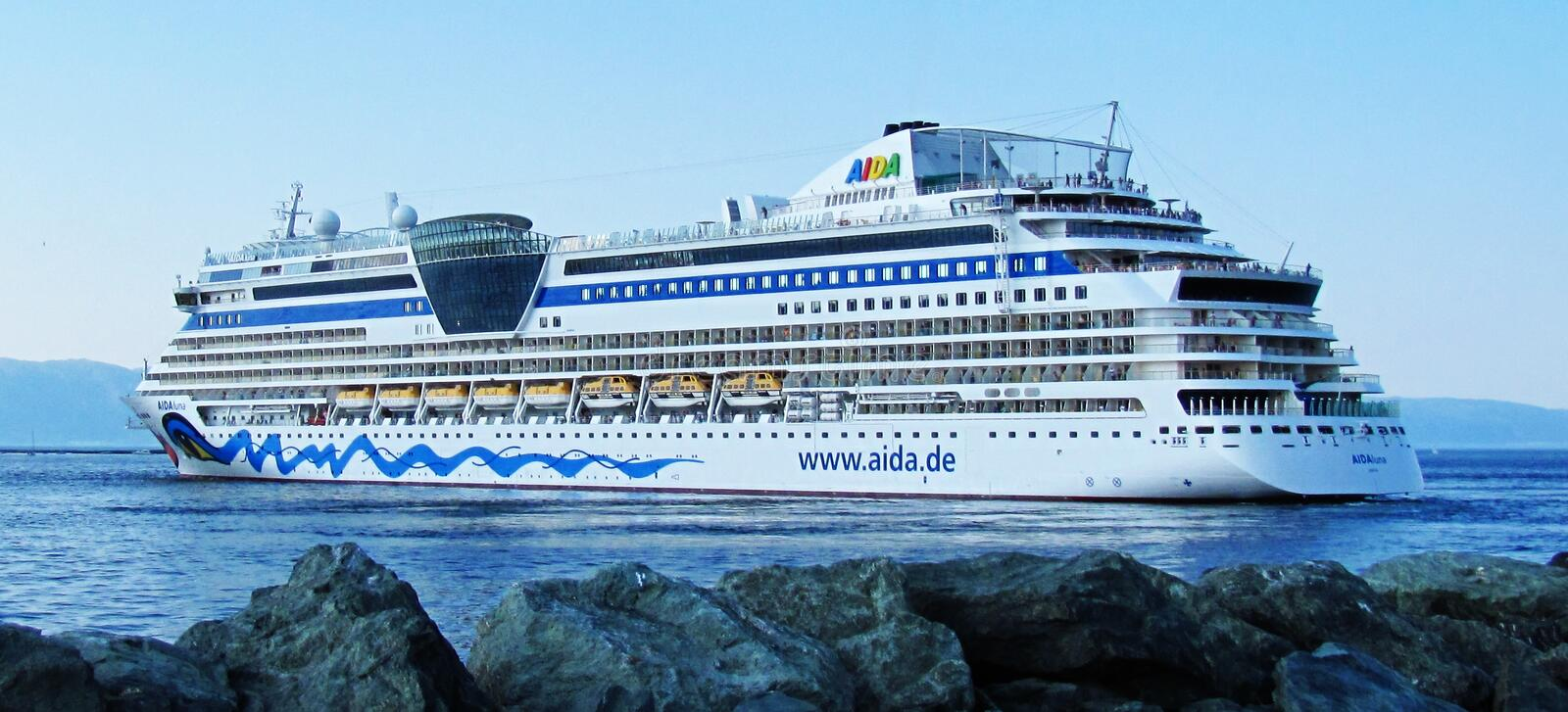 Aida Cruise. In the North Sea royalty free stock photos