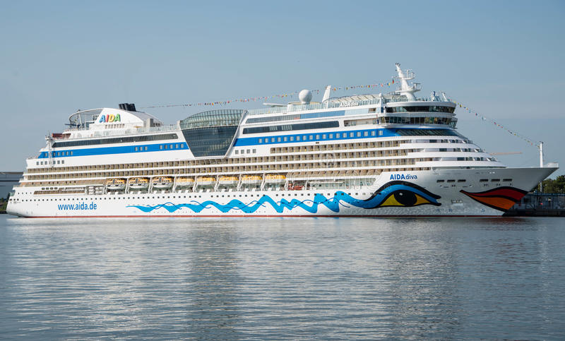 Aida Diva cruise ship royalty free stock images