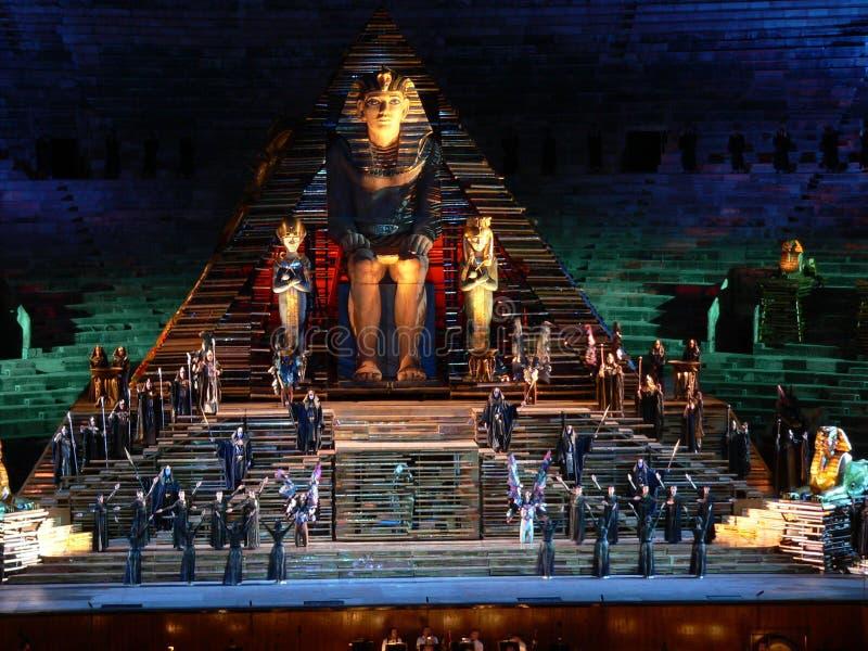 Aida en la arena, Verona (Italia) foto de archivo