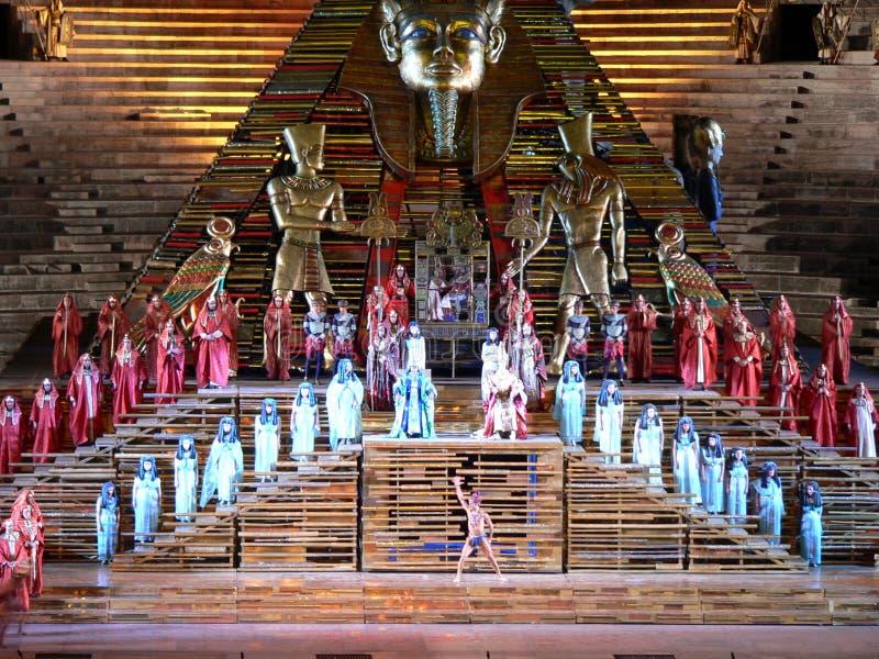 Aida en la arena, Verona (Italia) imagen de archivo libre de regalías
