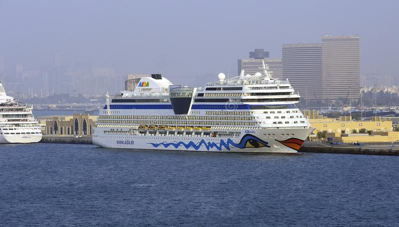 AIDA stella in Port Rashid. Dubai royalty free stock images
