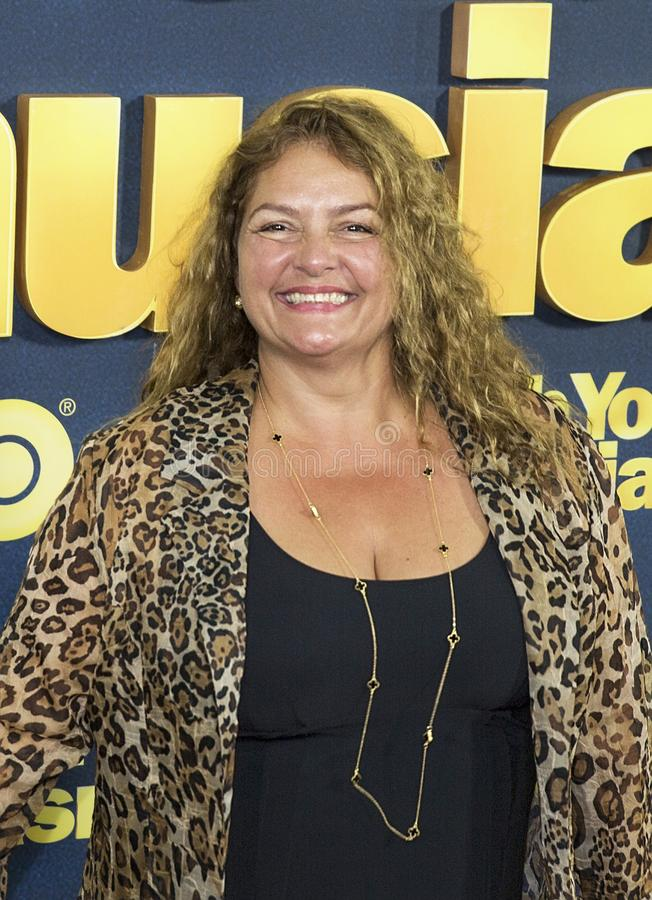 Aida Turturro. Actress Aida Turturro `The Sopranos` arrives for the NY premiere of the 9th season of HBO`s hit comedy, `Curb Your Enthusiasm.` Larry David royalty free stock photography