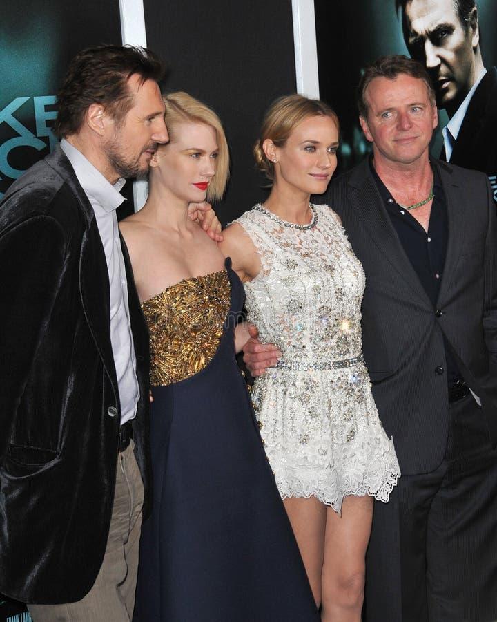 Aidan Quinn, Diane Kruger, enero Jones, Liam Neeson fotos de archivo libres de regalías
