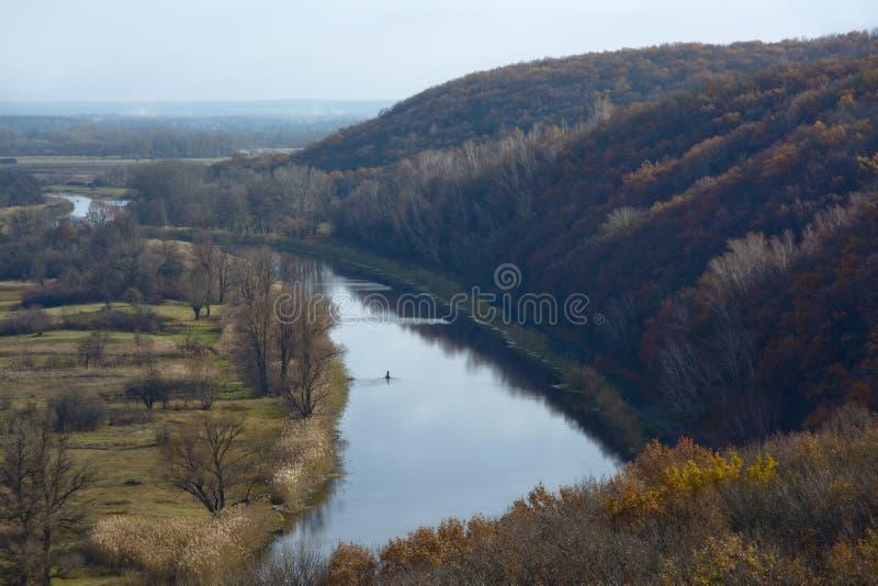 Aidar rzeka w Ukraina zdjęcia royalty free